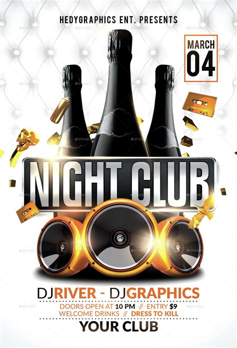 club flyer club flyer template by hedygraphics graphicriver