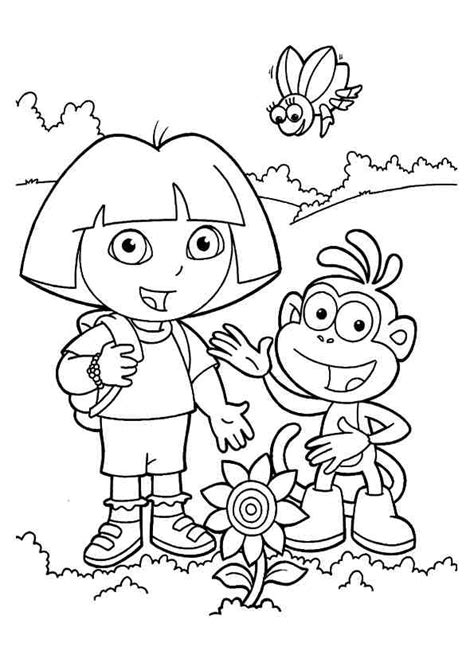 cute dora coloring pages dora coloring pages cutecoloring com