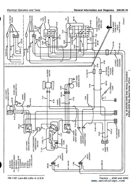 deere 4240 wiring harness 30 wiring diagram images