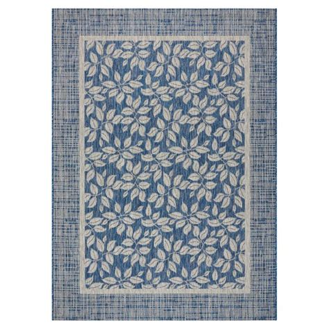 nourison garden party denim indooroutdoor area rug