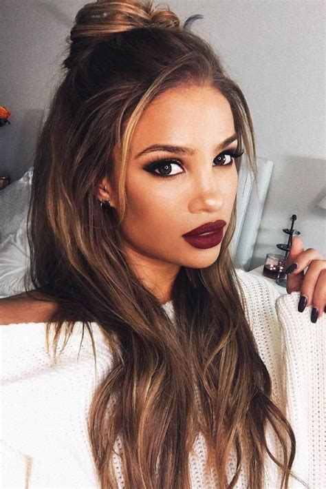 21 Straight Hairstyles for Long Hair   Straight hairstyles, Hair style and Makeup