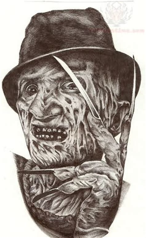 freddy tattoos design freddy krueger portrait design