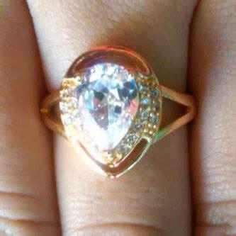 Cincin Perak Lapis Emas Batu Ruby Cincin Cewek Batu Ruby 5 cincin kalung liontin gelang perak murah grosir cincin cincin wanita cincin perak lapis emas