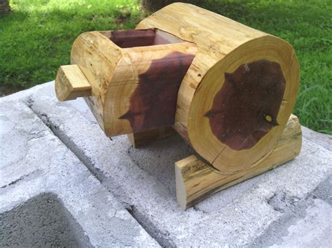 Buy a Hand Crafted Cedar Log Bandsaw Box, made to order