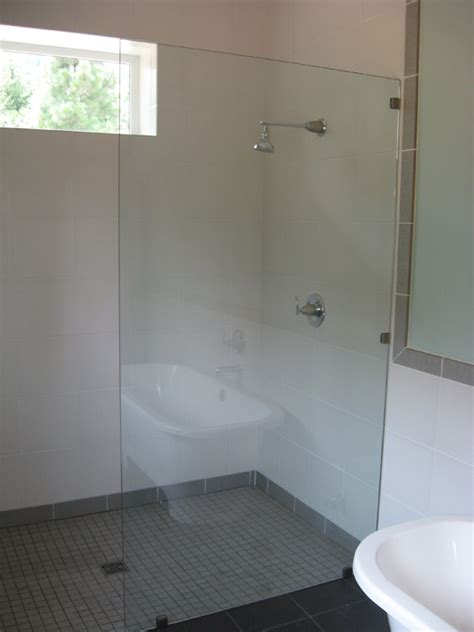 American Safety Bath And Shower glass frameless glass panels shower doors in portland or
