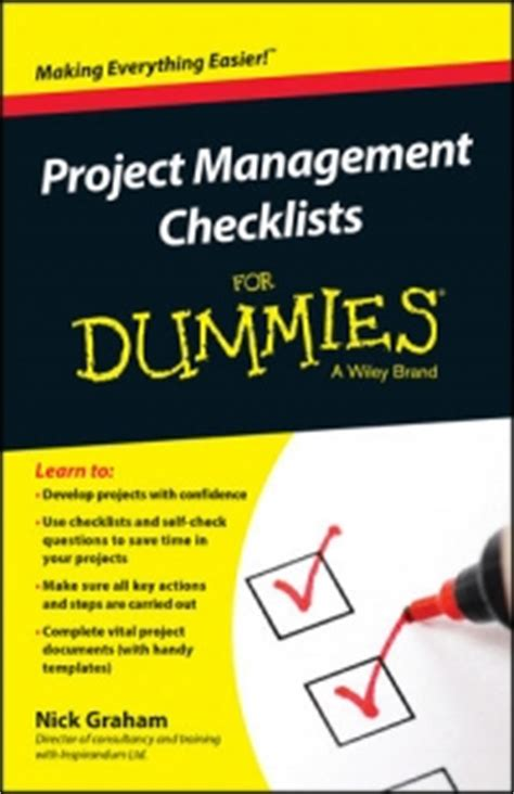 Project 2010 For Dummies project management checklists for dummies free