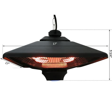 outsunny 20 quot 1500w outdoor remote hanging ceiling