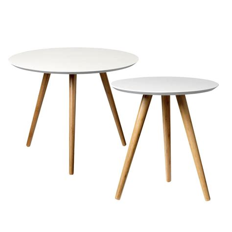 bloomingville coffee table set of 2 white bamboo living