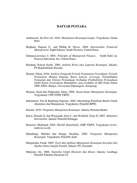 Manajemen Keuangan Lanjut Sri Dwi Ari Ambarwati Graha Ilmu Buku daftar pustaka jngn dipindah atau dihapus