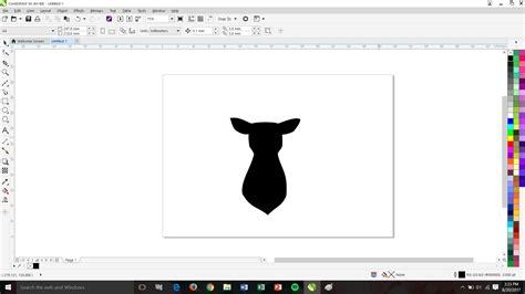 tutorial gambar siluet tutorial membuat siluet kepala rusa