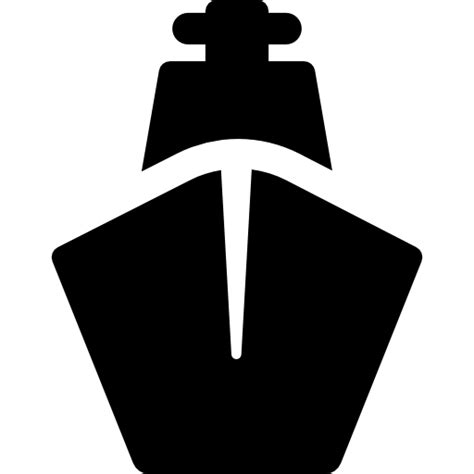 big boat icon ship front view free transport icons