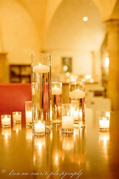 Cylinder Vases With Floating Candles And Flowers by Diy Wedding Decor Cylinder Vases Filled With Water