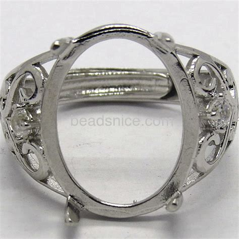 silver ring blanks jewelry wholesale fashion ring blanks settings personalized finger