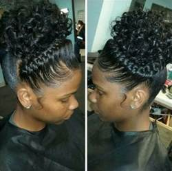 braided pin up hairstyle for black eye catching goddess braids charming goddess braids