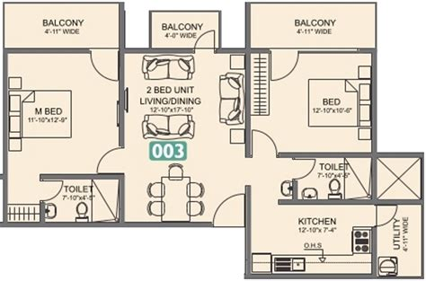 laurel floor plan 1206 sq ft 2 bhk 2t apartment for sale in vmaks laurel