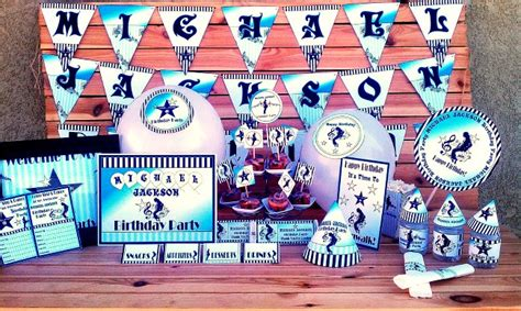 michael jackson themed birthday party michael jackson printable party supplies invitations