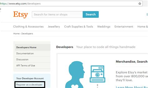 How To Search For On Etsy How To Create A Developer Account On Etsy Merchant