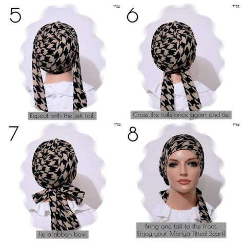 fitted scarf sinar style floral modest anytime