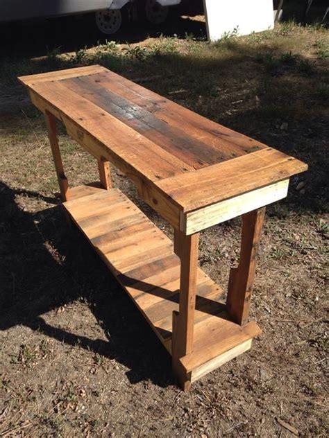 diy entryway table pallet furniture diy muebles de