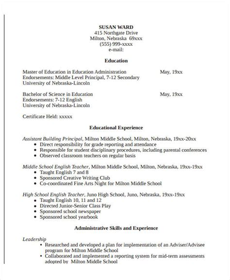 Resume Education Format by 22 Education Resume Templates Pdf Doc Free Premium