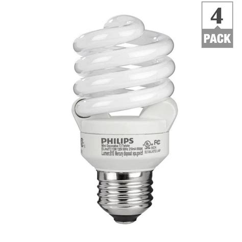 Kitchen Window Decor Ideas by Philips 60w Equivalent Daylight 6500k T2 Spiral Cfl