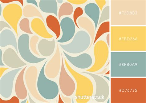 color with 25 retro and vintage color palettes free swatch