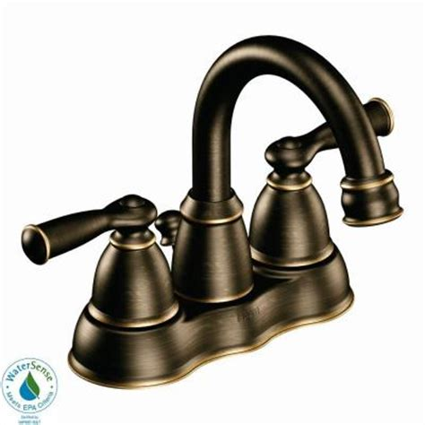 moen banbury bathroom faucet moen banbury 4 in centerset 2 handle high arc bathroom faucet in bronze