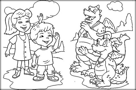 printable dragon tales coloring pages for preschoolers