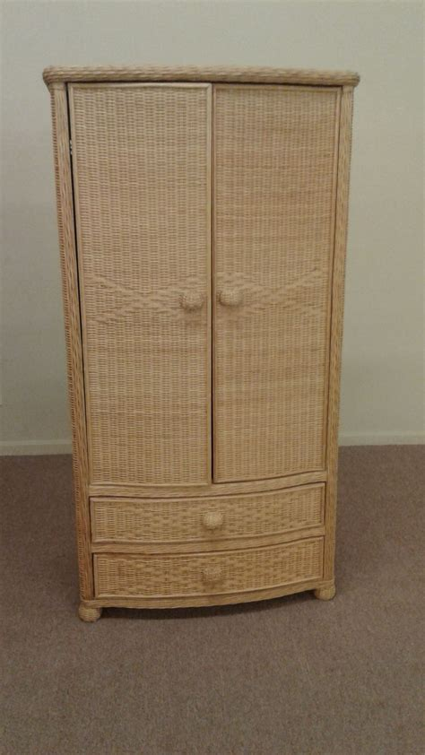 wicker armoire natural color wicker armoire delmarva furniture consignment