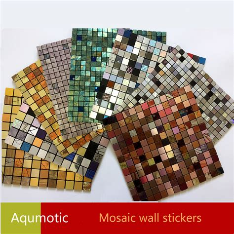 Mosaic Sticker 3d Snowman aqumotic mosaic 3d stickers wall decor diy wallpaper glue home renovation interior 3d mosaic