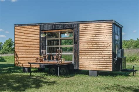 tiny house with deck comfort and luxury in a tiny house format