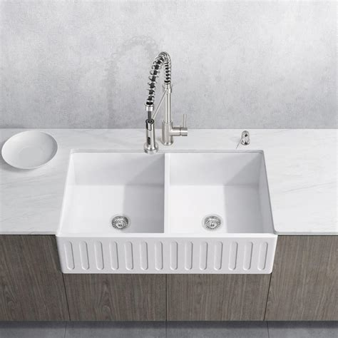 matte farmhouse sink vigo all in one farmhouse matte 36 in bowl
