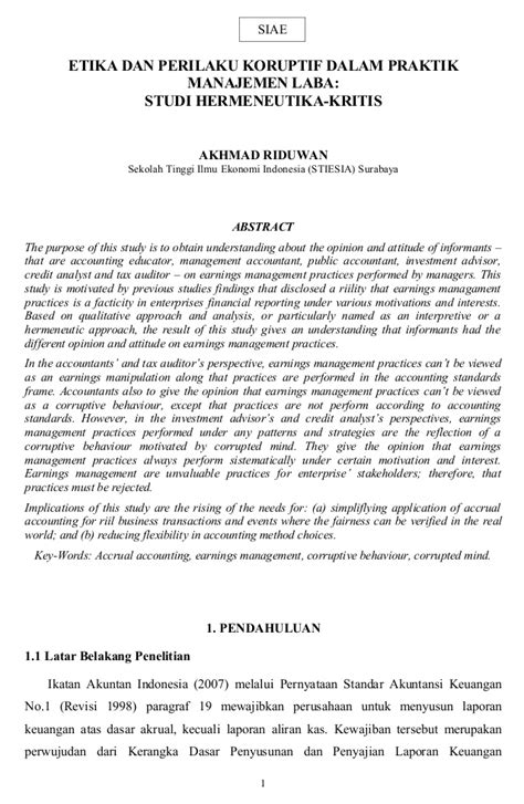 skripsi akuntansi kualitatif contoh abstrak skripsi penelitian kualitatif 11