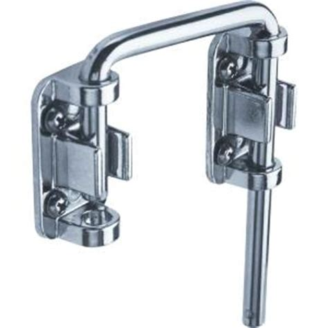 Locks For Patio Sliding Doors Prime Line Patio Chrome Sliding Door Loop Lock U 9847 The Home Depot