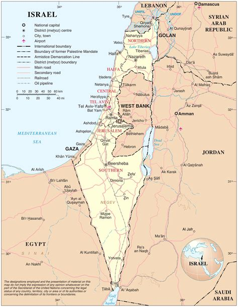 best map of map of israel israel news
