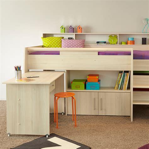 kids beds with storage and desk parisot kurt cabin bed with desk storage cabin beds