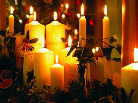 christmas candle picture warm christmas night preview wallpapercom
