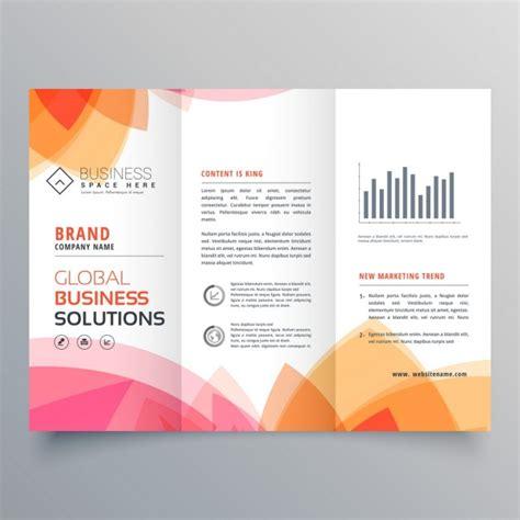 leaflet design definition modern brochure with warm colors vector free download