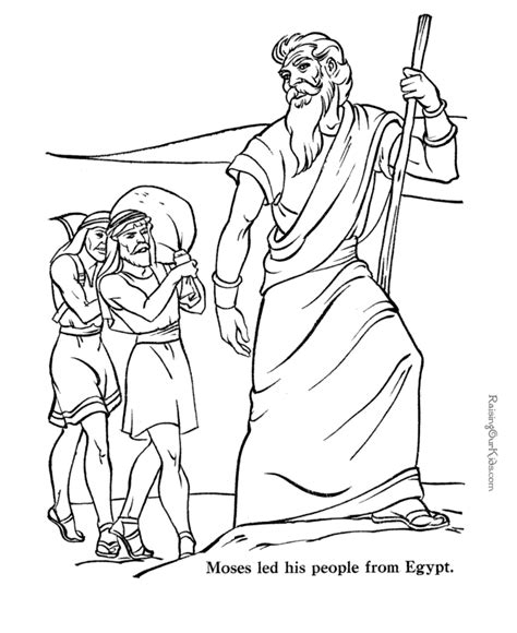 moses bible coloring pages to print 035