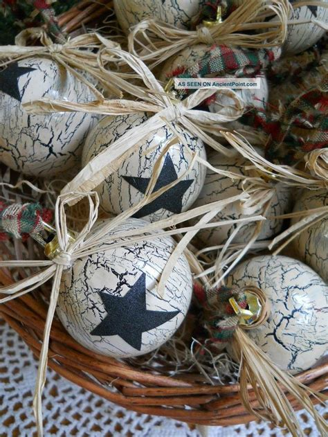 primitive christmas ornaments christmas pinterest
