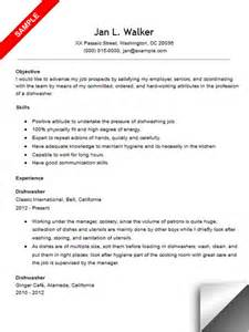 dishwasher resume template latest resume format