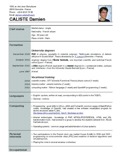Follow The New Resume Trends by New Resume Formats New Resume Format Free
