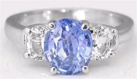 White Sapphire Ceylon 3 3 31 ctw ceylon sapphire and white sapphire ring in 14k