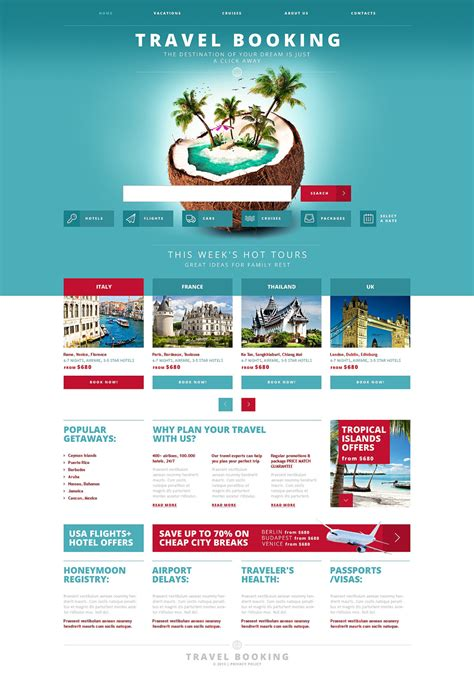 travel booking responsive website template