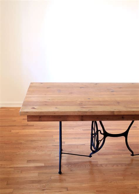 desk made from sewing machine base ideas images