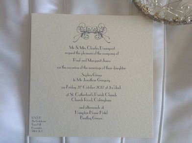 how to list names on wedding invitations personalised wedding invitations free guest name printing