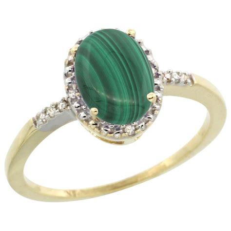 1 67 ctw malachite engagement ring 10k