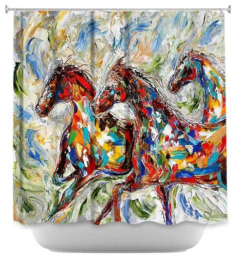 artistic curtains shower curtain artistic abstract wild horses