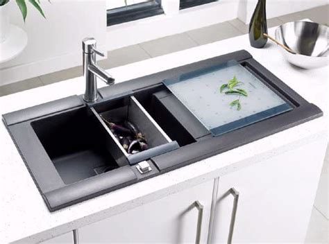 geo 1 0 bowl rok metallic black composite kitchen sink