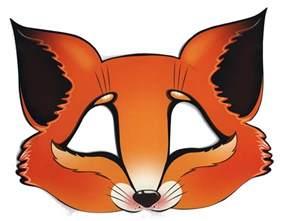 fox mask template masks template animals orange fox cut out